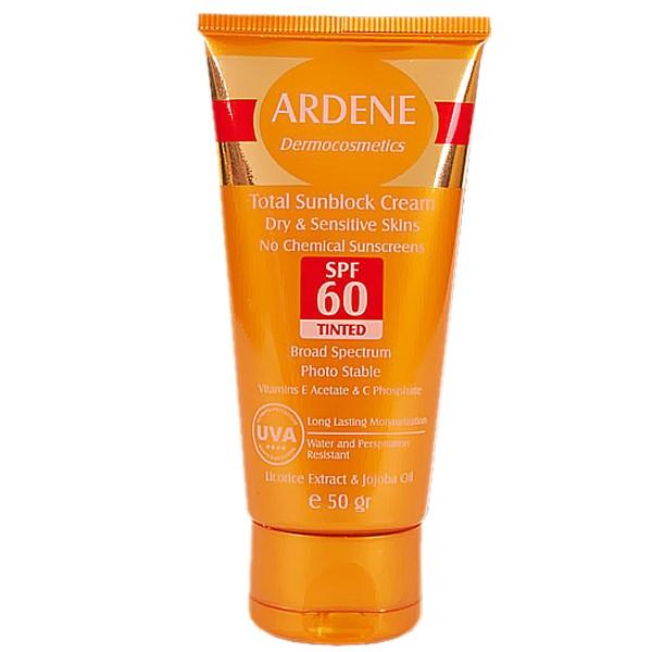 قیمت کرم ضد آفتاب رنگی آردن SPF60 مقدار 50 گرم