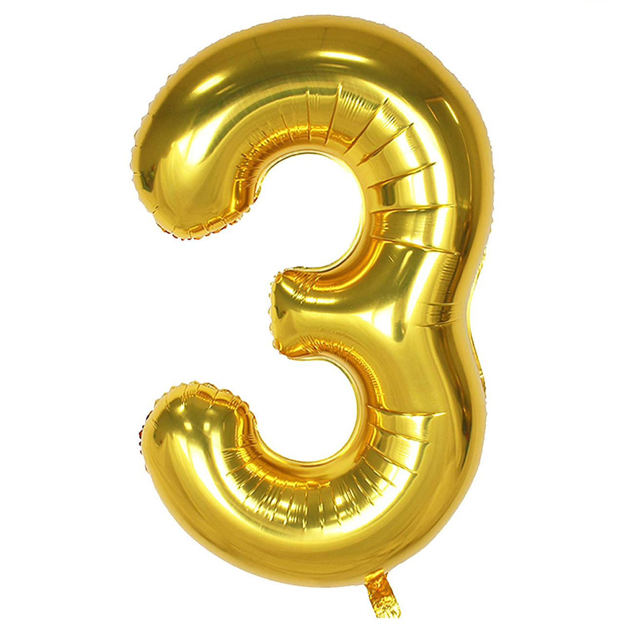 بادکنک فویلی عدد 3 هپی بری طلایی سایز 32 اینچ سایز 120