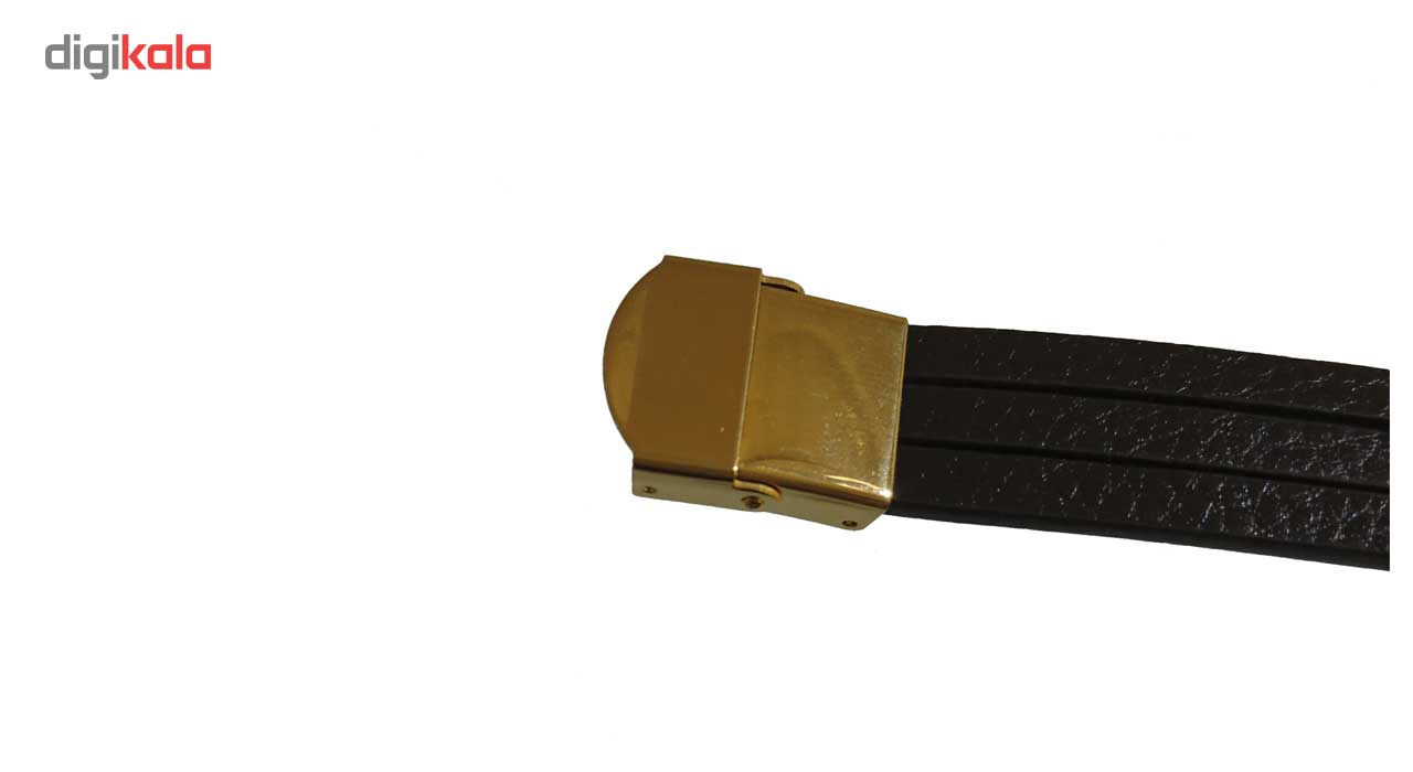 دستبند چرم طلا 18عیار کانیار گالری مدل D741