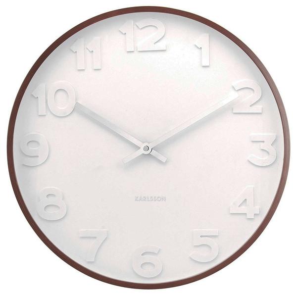 ساعت دیواری چوبی کارلسون مدل Mr White Numbers
