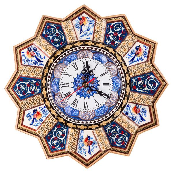 ساعت دیواری خاتم کاری طهران گوهر مدل TG7501