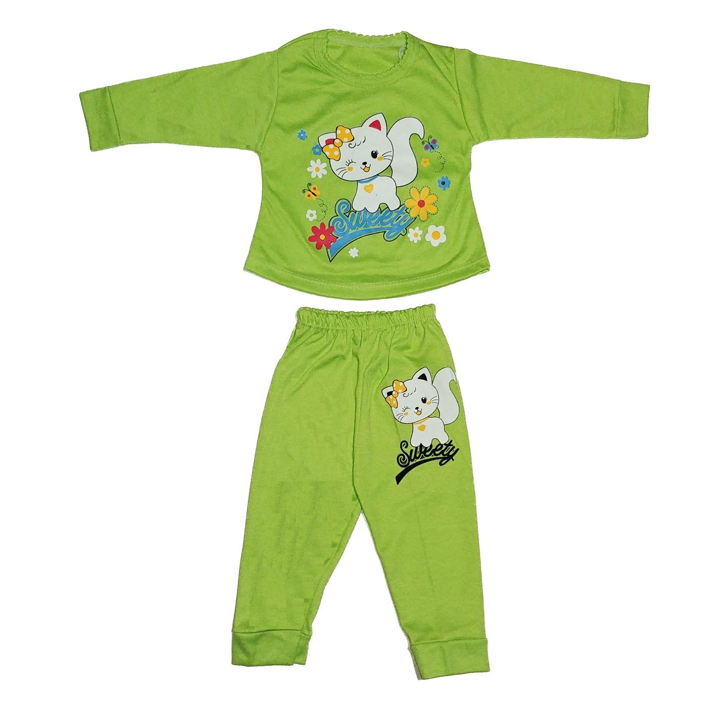 ست تی شرت و شلوار نوزادی دخترانه کد 8888SA