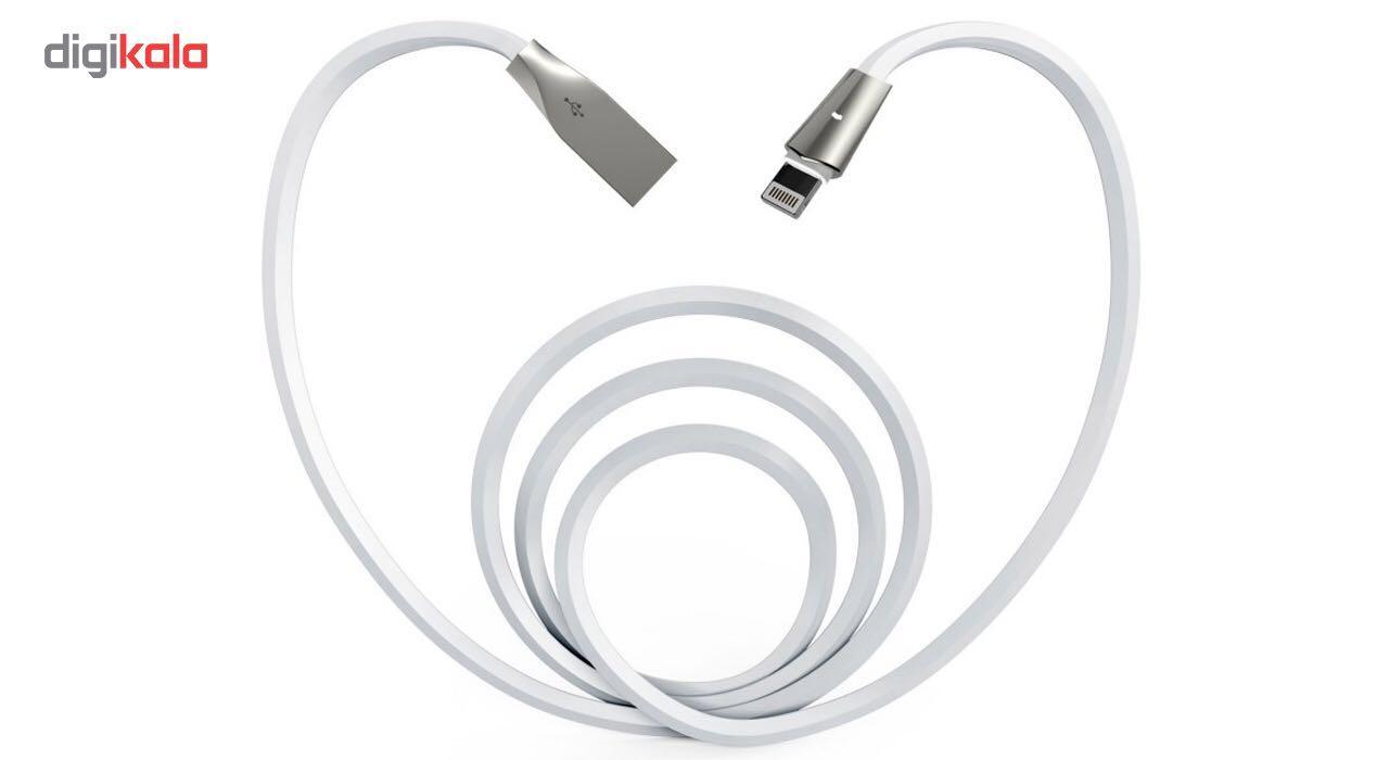 کابل تبدیل USB به لایتنینگ آیفون آیماس مدل LED به طول 1.8 متر  Aimus LED USB To Lightning Iphone Cable 1.8m