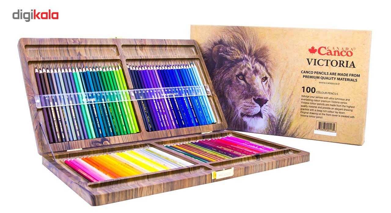 مداد رنگی 100 رنگ جعبه چوبی کنکو مدل ویکتوریا main 1 1