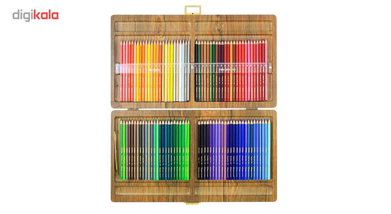 مداد رنگی 100 رنگ جعبه چوبی کنکو مدل ویکتوریا main 1 3