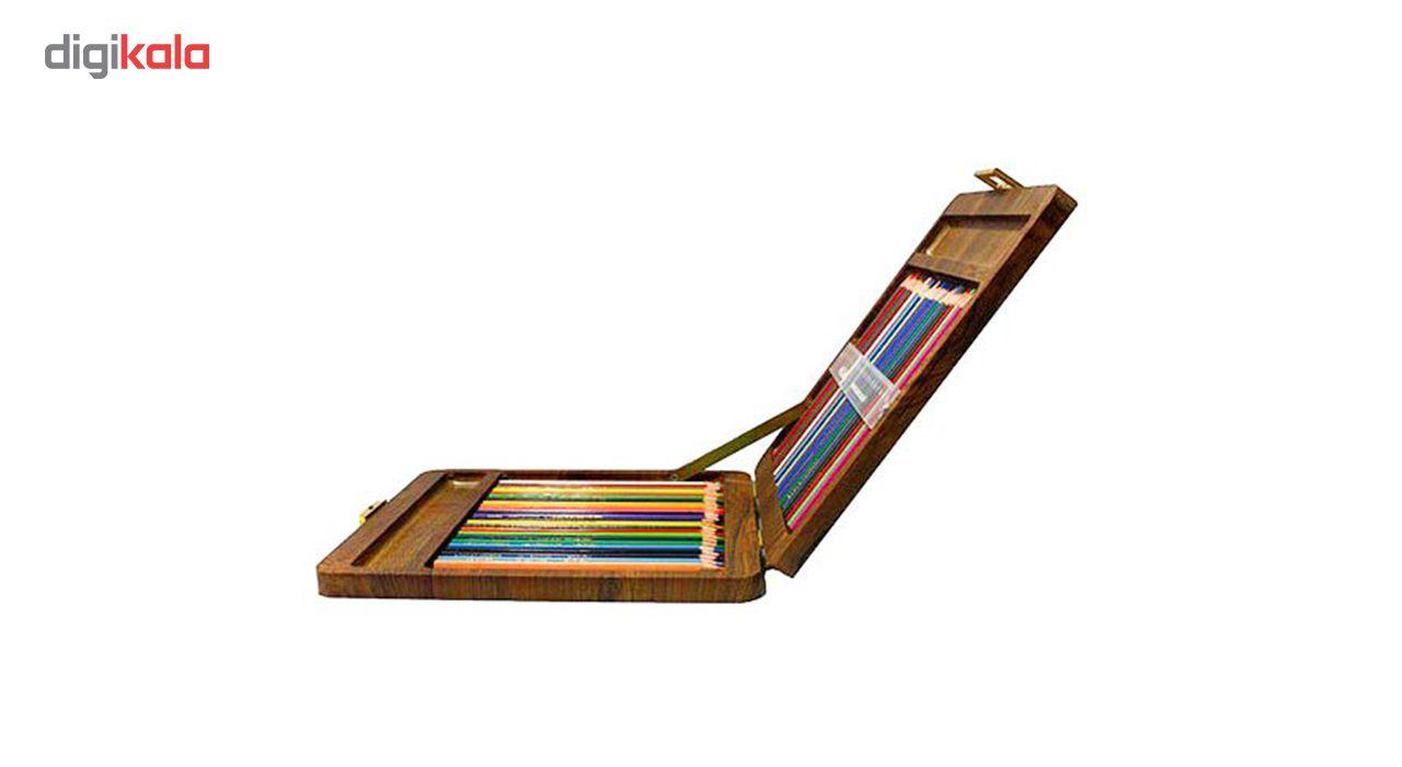 مداد رنگی 100 رنگ جعبه چوبی کنکو مدل ویکتوریا main 1 5