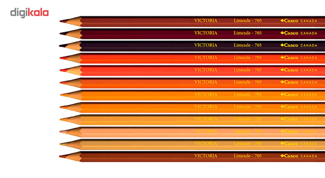 مداد رنگی 100 رنگ جعبه چوبی کنکو مدل ویکتوریا main 1 9