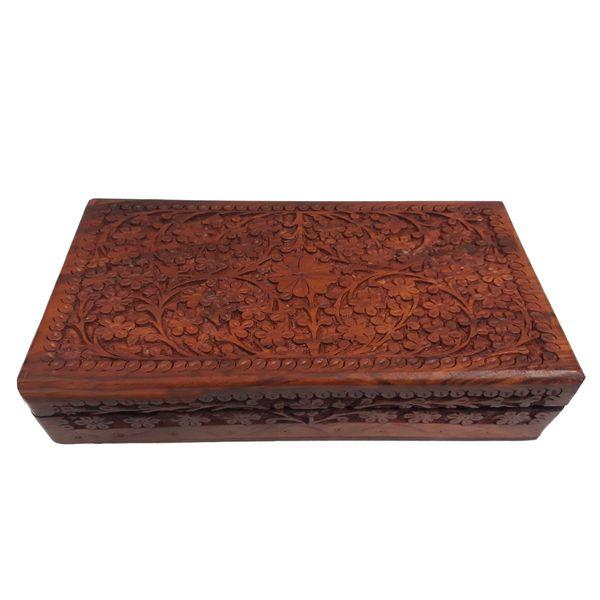 جعبه چوبی منبت کاری هندی مدل 1014-K