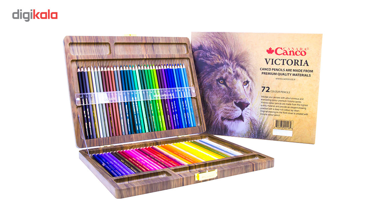مداد رنگی 72 رنگ کنکو مدل ویکتوریا main 1 1