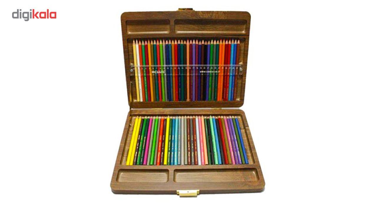 مداد رنگی 72 رنگ کنکو مدل ویکتوریا main 1 4
