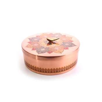 شکلات خوری دردار مسی با تزیین نقوش سنتی کد 1001200100