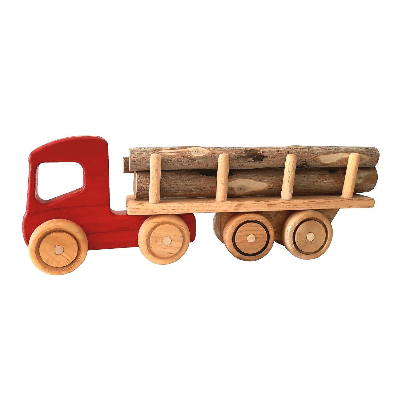 اسباب بازی چوبی طرح تریلی کد 005