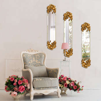 آینه پدیده شاپ طرح پاپیون طلایی مجموعه 3 عددی