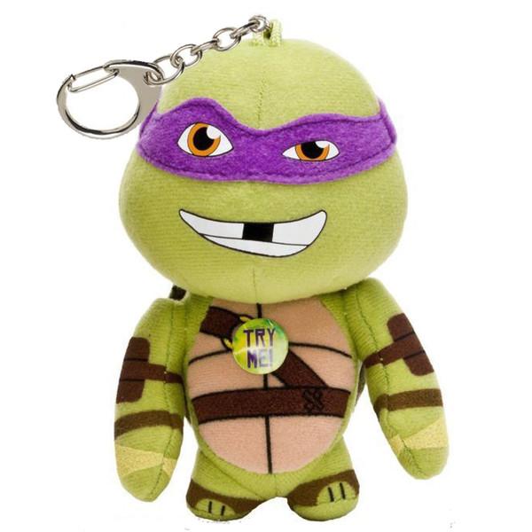 عروسک پولیشی لاکپشت نینجا کلیپ دار سخنگو مدل  Donatello Talking Plush Clip-on