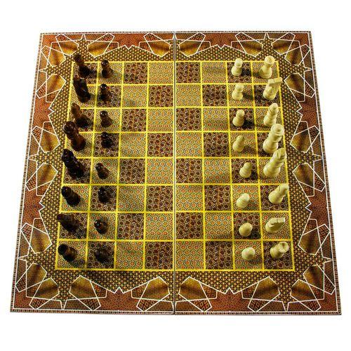 صفحه شطرنج و تخته نرد مدل خاتم طرح 611