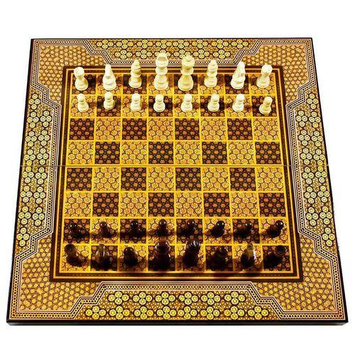 صفحه شطرنج و تخته نرد مدل خاتم طرح 613