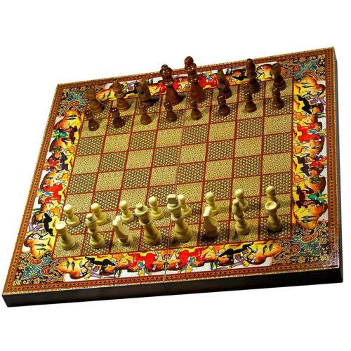 صفحه شطرنج و تخته نرد مدل شکار طرح 615