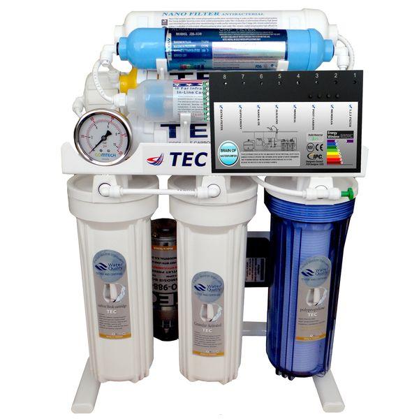 تصفیه آب هوشمند 9 مرحله ای نانوفیلتراسیون -اکسیژن ساز- قلیایی ساز- املاح معدنی - اسمزمعکوس مدل RO-BRAIN-TN540 |