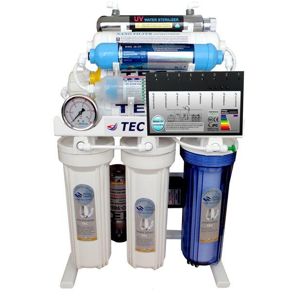 دستگاه تصفیه آب خانگی هوشمند 10 مرحله ای نانو فیلتراسیون - اکسیژن ساز - قلیایی ساز - ماورابنفش - اسمزمعکوس تصفیه تکمیل مدل RO-BRAIN-TNX2018 |