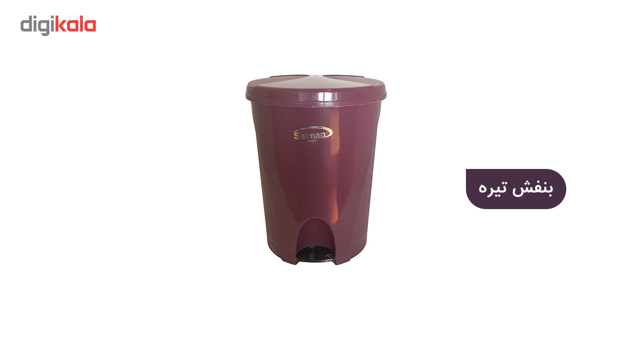 سطل زباله پدالی سلمان پلاستیک مدل گلبرگ 280 main 1 2