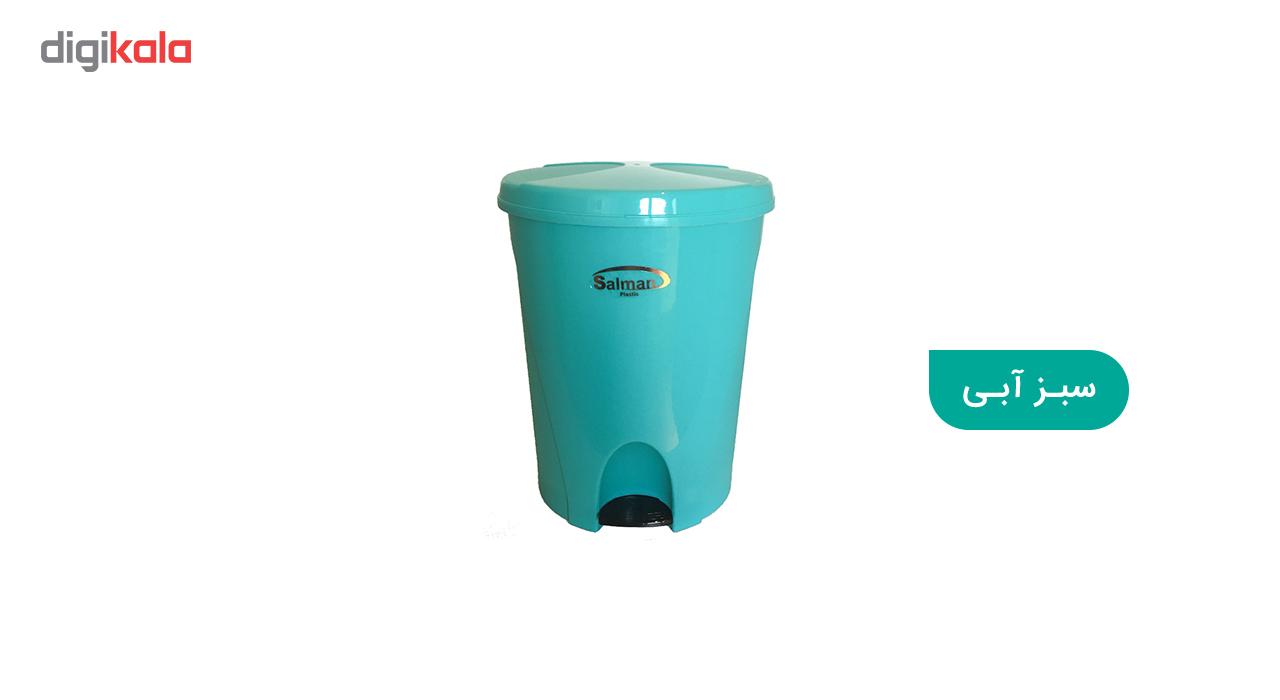 سطل زباله پدالی سلمان پلاستیک مدل گلبرگ 280 main 1 3