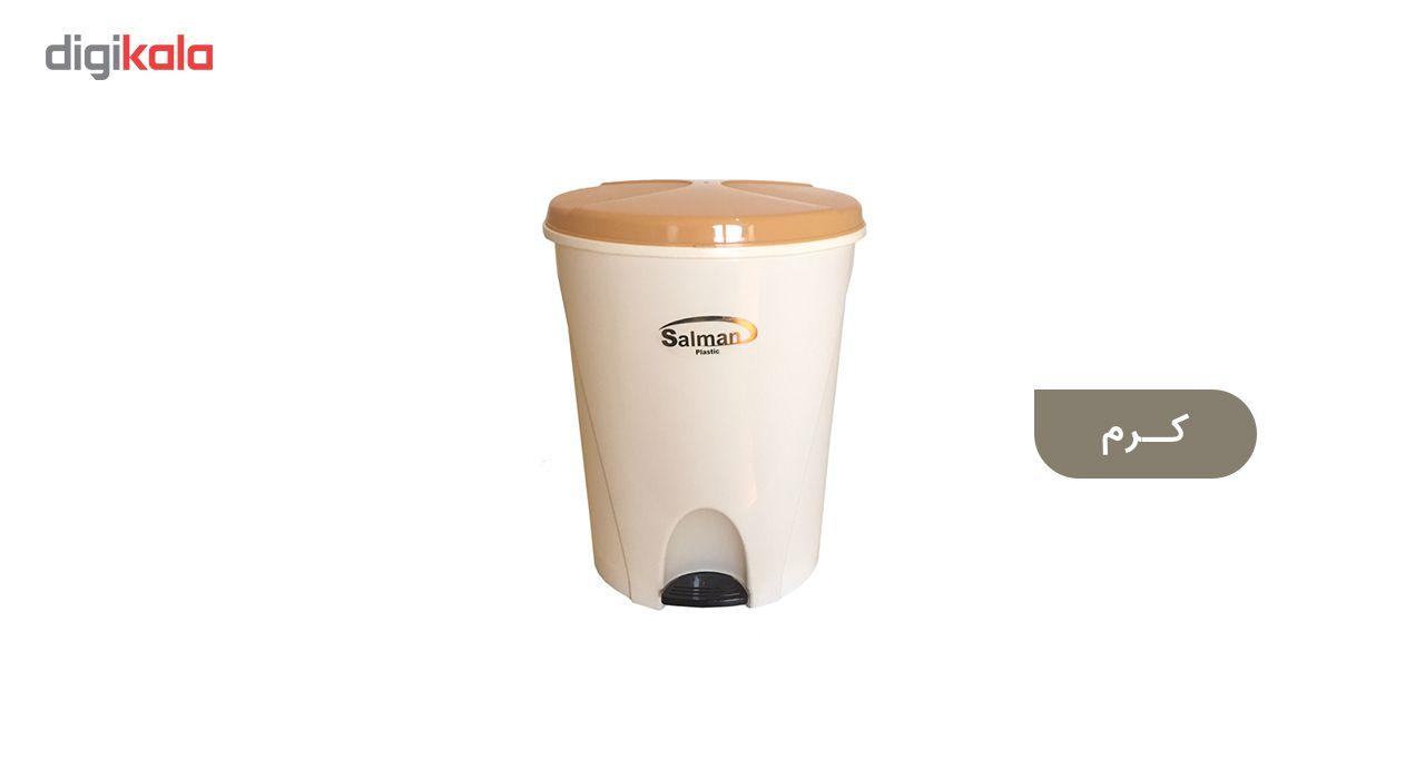 سطل زباله پدالی سلمان پلاستیک مدل گلبرگ 280 main 1 4