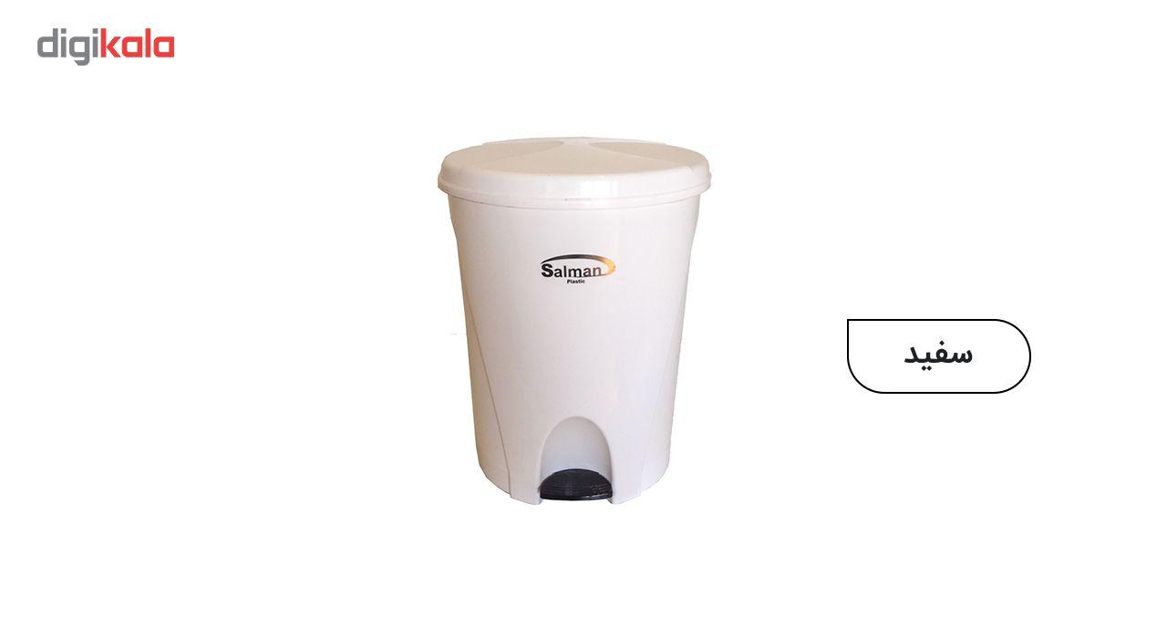 سطل زباله پدالی سلمان پلاستیک مدل گلبرگ 280 main 1 6