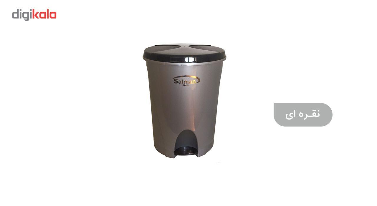 سطل زباله پدالی سلمان پلاستیک مدل گلبرگ 280 main 1 8