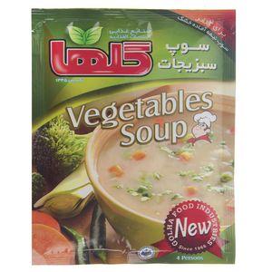 سوپ سبزیجات گلها مقدار 70 گرم