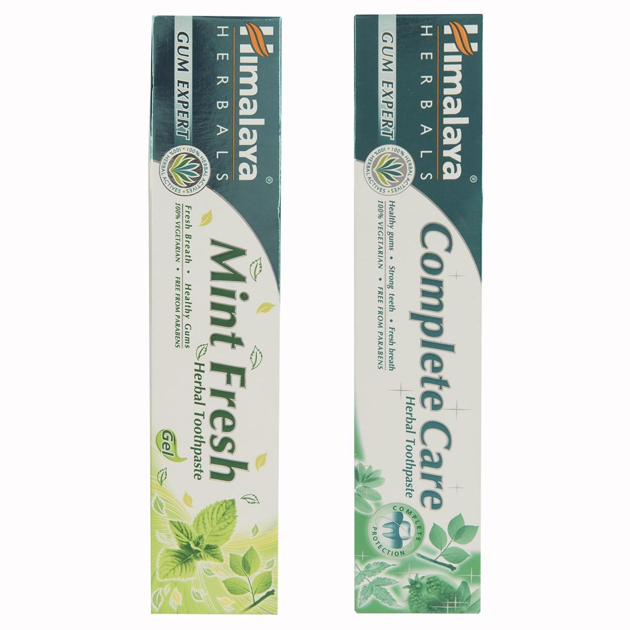 خرید                      ست خمیر دندان گیاهی هیمالیا مدل  Complete Care و Mint Fresh حجم 75 میلی لیتر