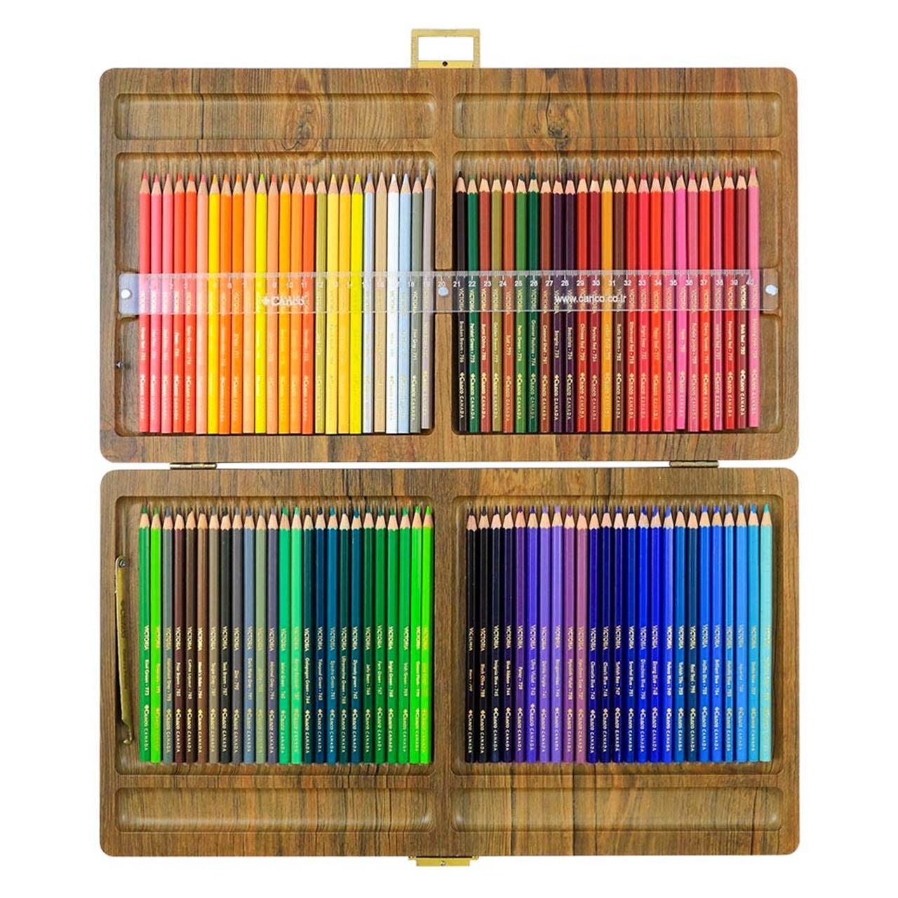 مداد رنگی 100 رنگ جعبه چوبی کنکو مدل ویکتوریا thumb