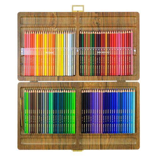 مداد رنگی 100 رنگ جعبه چوبی کنکو مدل ویکتوریا