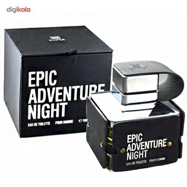 ادو تویلت مردانه امپر مدل اپیک ادونچر نایت حجم 100 میلی لیتر  Emper Epic Adventure Night Eau De To
