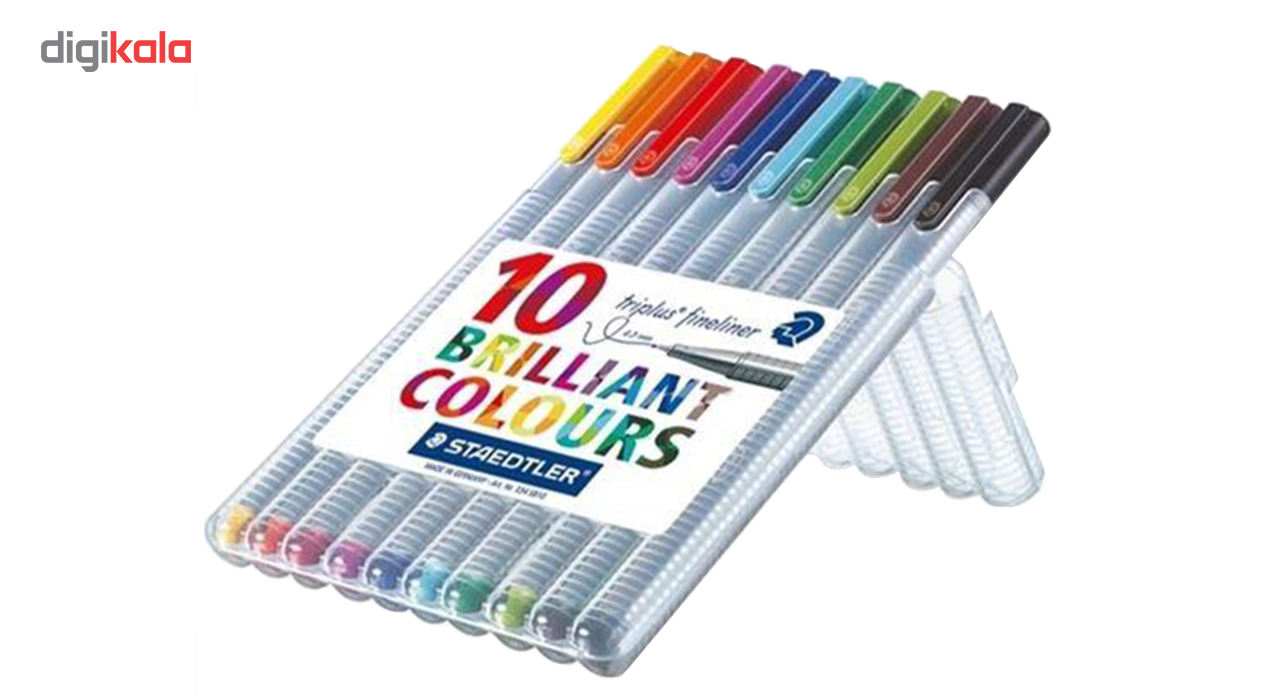 روان نویس 10 رنگ استدلر مدل Triplus Brilliant Colors  main 1 2