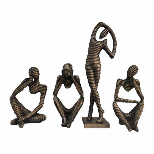 مجسمه ژیوان رز طرح مومیایی بسته 4 عددی