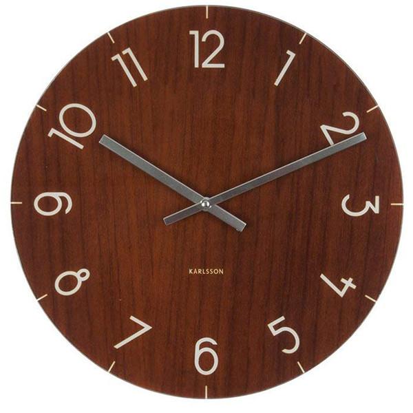 ساعت دیواری کارلسون مدل Glass Wood