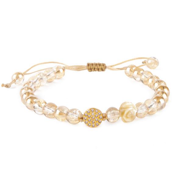 دستبند طلا 18 عیار زنانه ریسه گالری مدل Ri3-C1066T-Gold |