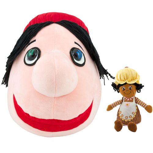عروسک پالیز مدل کلاه قرمزی ارتفاع 36 سانتی متر به همراه خانم مافین