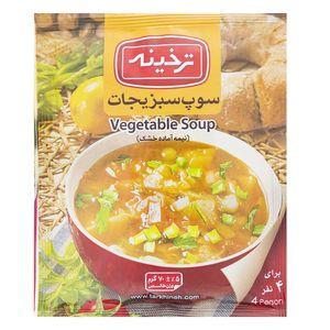 سوپ سبزیجات ترخینه مقدار 70 گرم