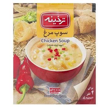 سوپ مرغ ترخینه مقدار 70 گرم