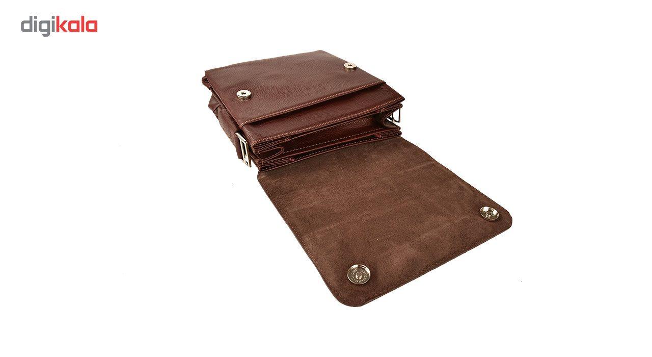 کیف دوشی چرم طبیعی کهن چرم مدل DB101-12 main 1 8