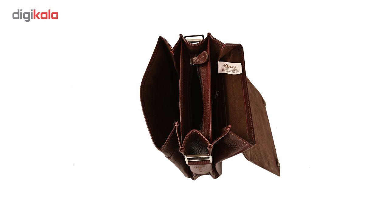 کیف دوشی چرم طبیعی کهن چرم مدل DB101-12 main 1 9