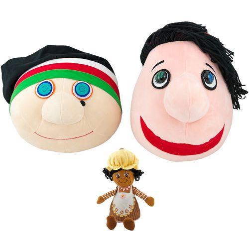عروسک پالیز مدل کلاه قرمزی و پسرخاله ارتفاع 36 سانتی متر به همراه خانم مافین