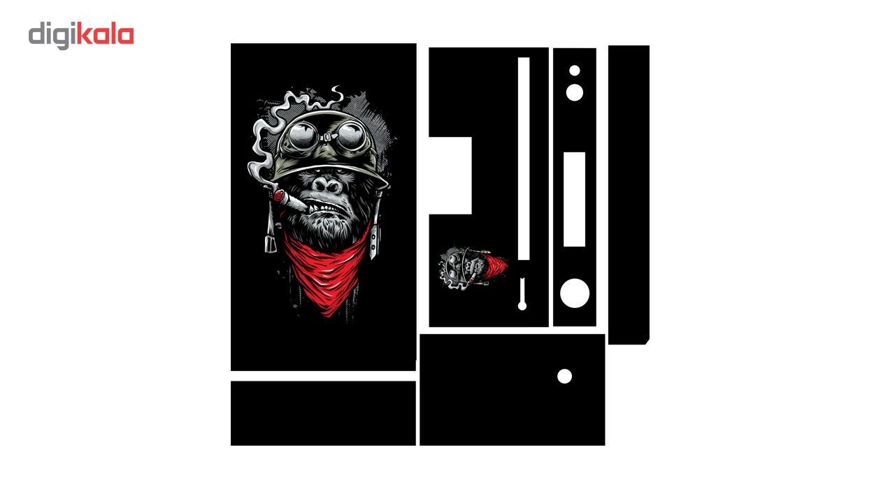 برچسب افقی ایکس باکس 1 گراسیپا طرح لکه Monkey