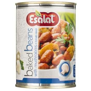 خوراک لوبیا چیتی با قارچ در سس گوجه فرنگی اصالت - 380 گرم