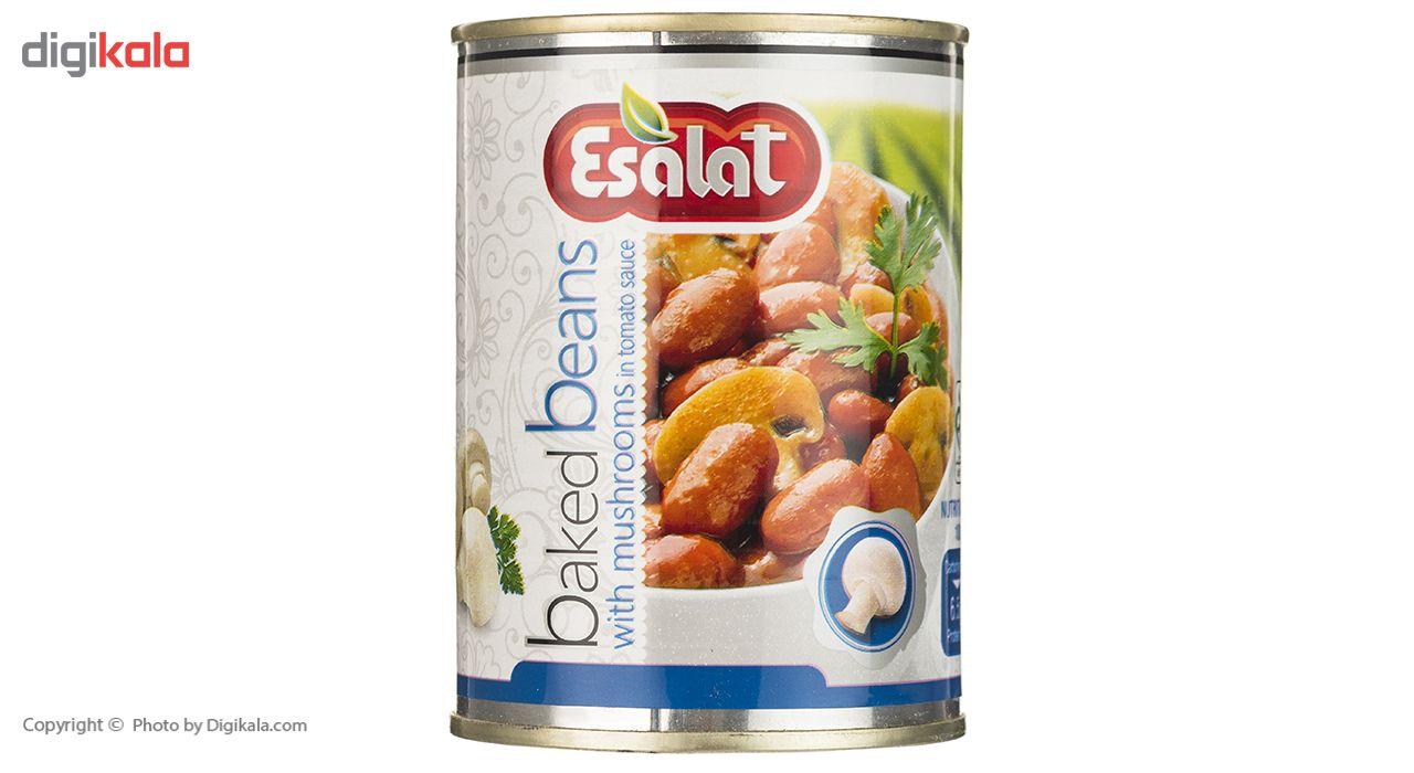 خوراک لوبیا چیتی با قارچ در سس گوجه فرنگی اصالت - 380 گرم main 1 2