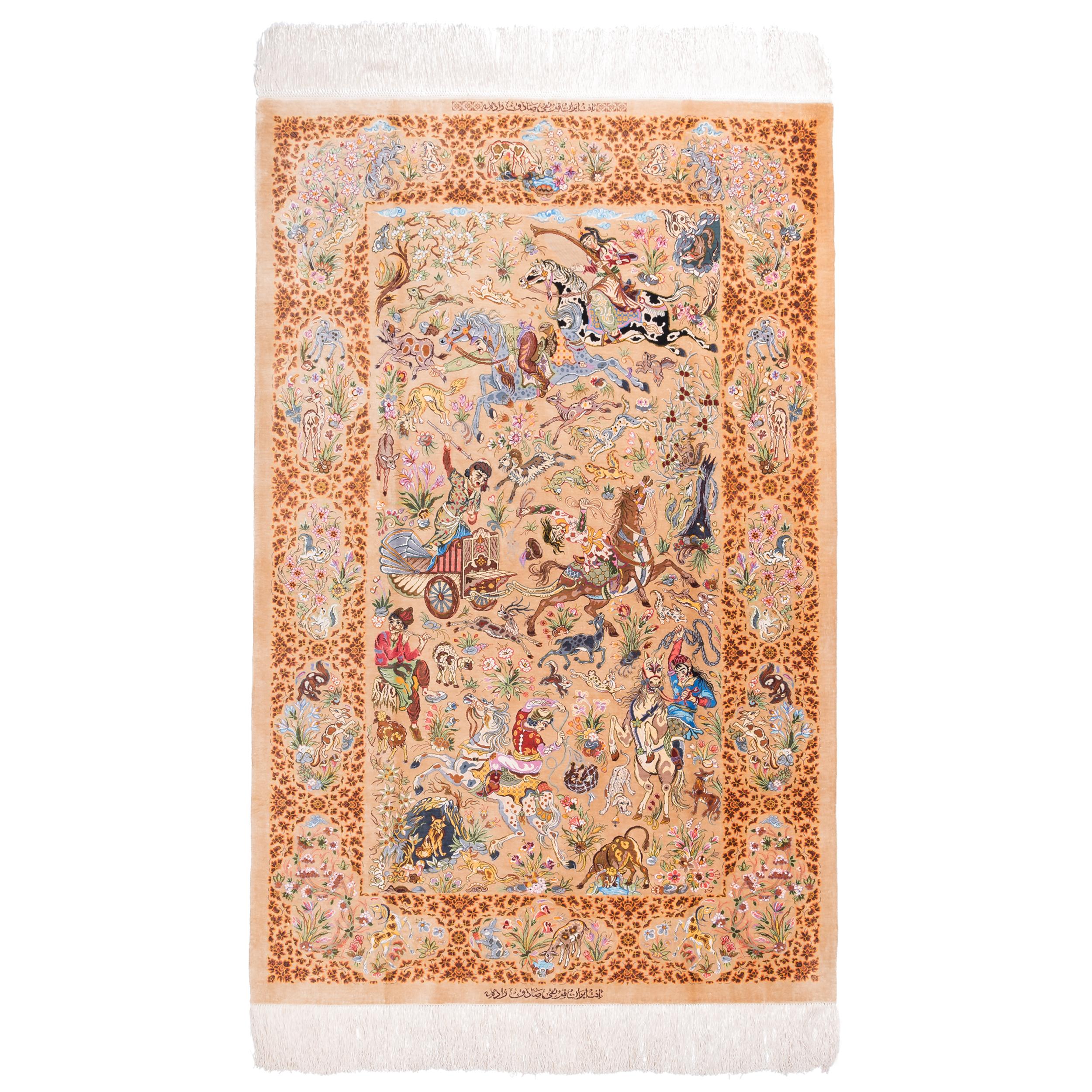 فرش دستبافت ذرع ونیم سی پرشیا کد 161086