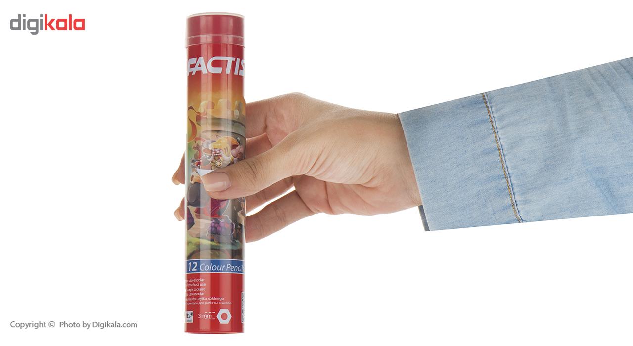 مداد رنگی 12 رنگ فکتیس main 1 4
