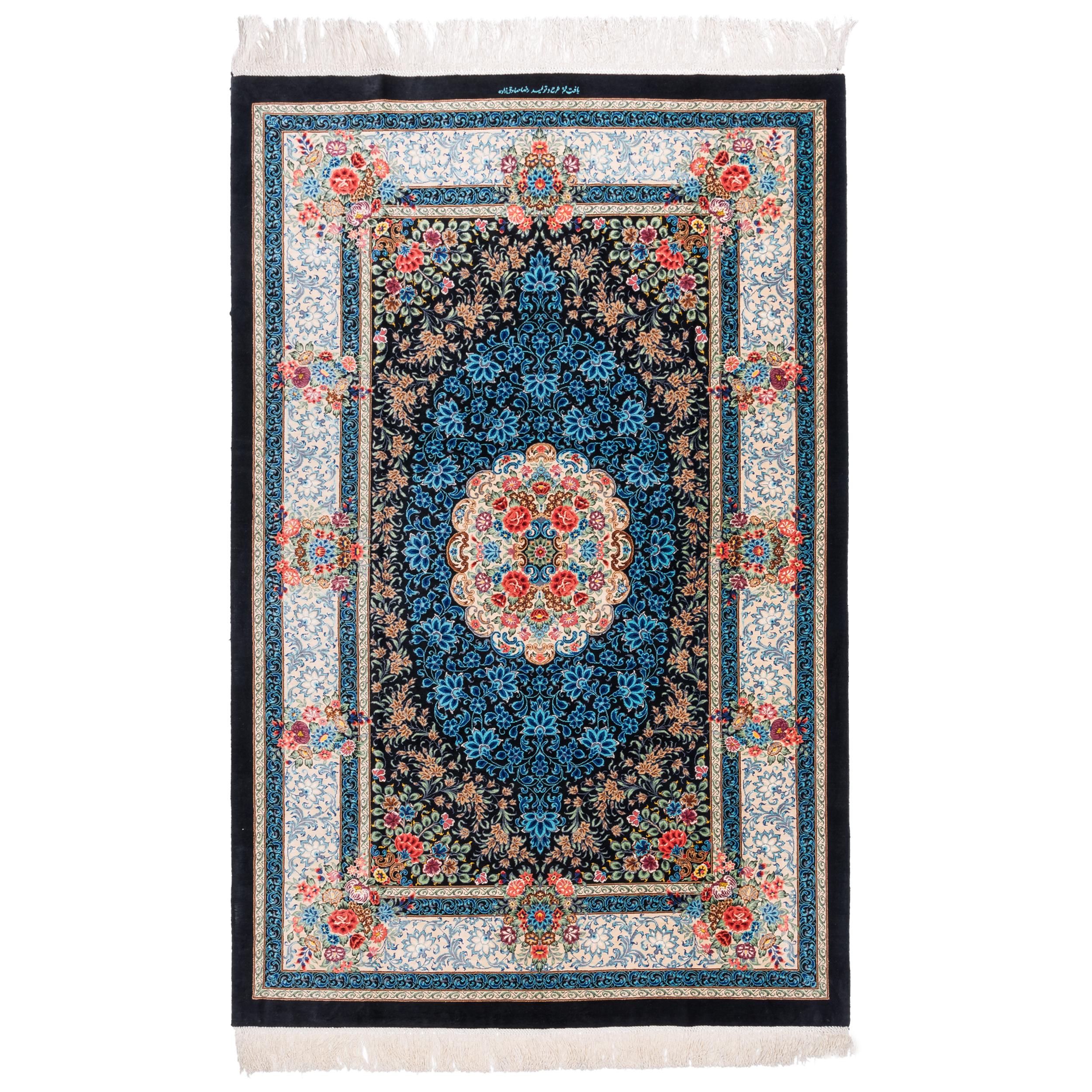فرش دستبافت ذرع ونیم سی پرشیا کد 161087