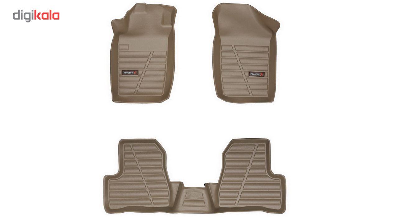 کفپوش سه بعدی خودرو لاستیک گیلان مناسب برای پژو 206 main 1 2
